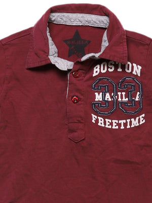 Detail photo of Preloved magilla Bordeaux Boy's polo - size 2-3 yrs