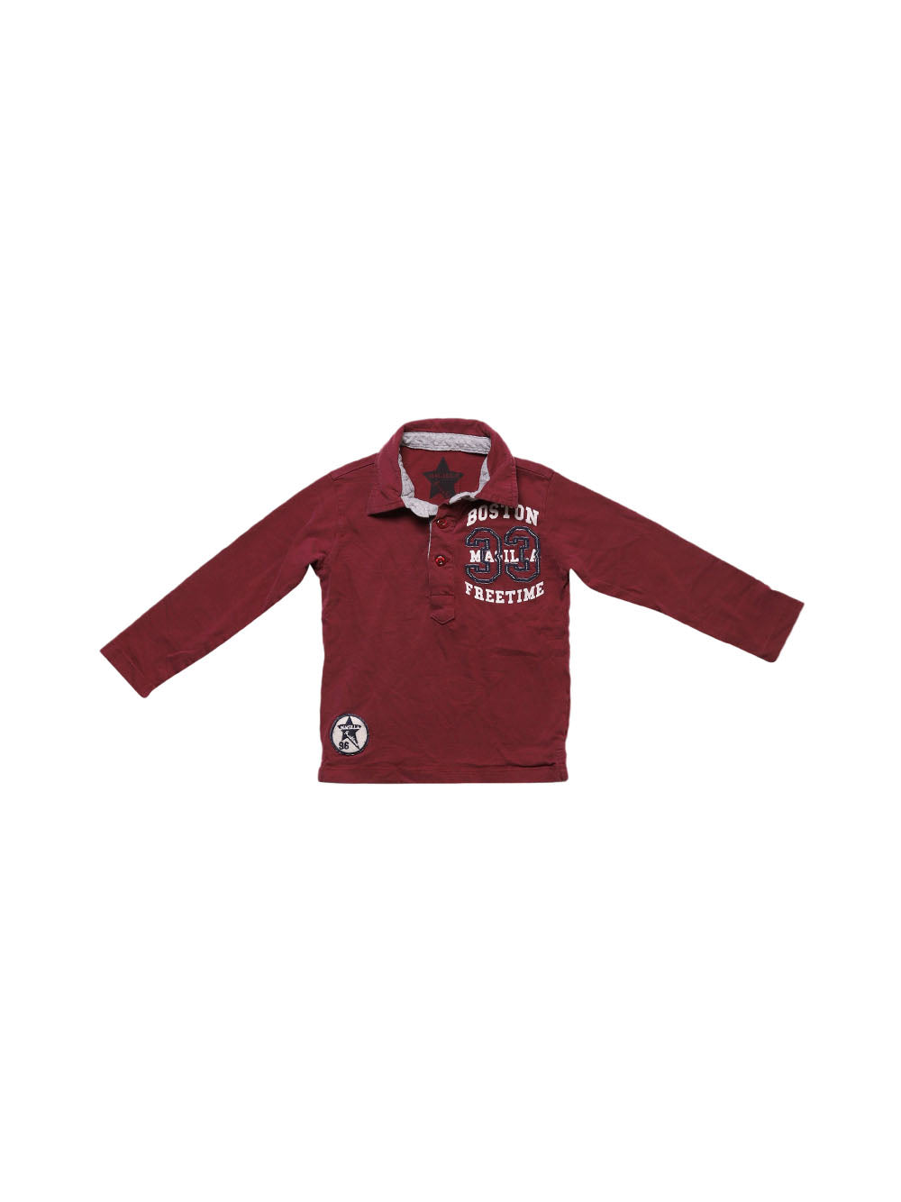 Front photo of Preloved magilla Bordeaux Boy's polo - size 2-3 yrs