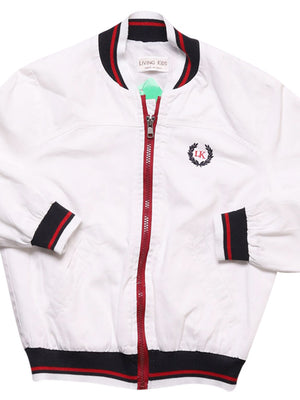 Detail photo of Preloved Living Kids White Boy's jacket - size 2-3 yrs