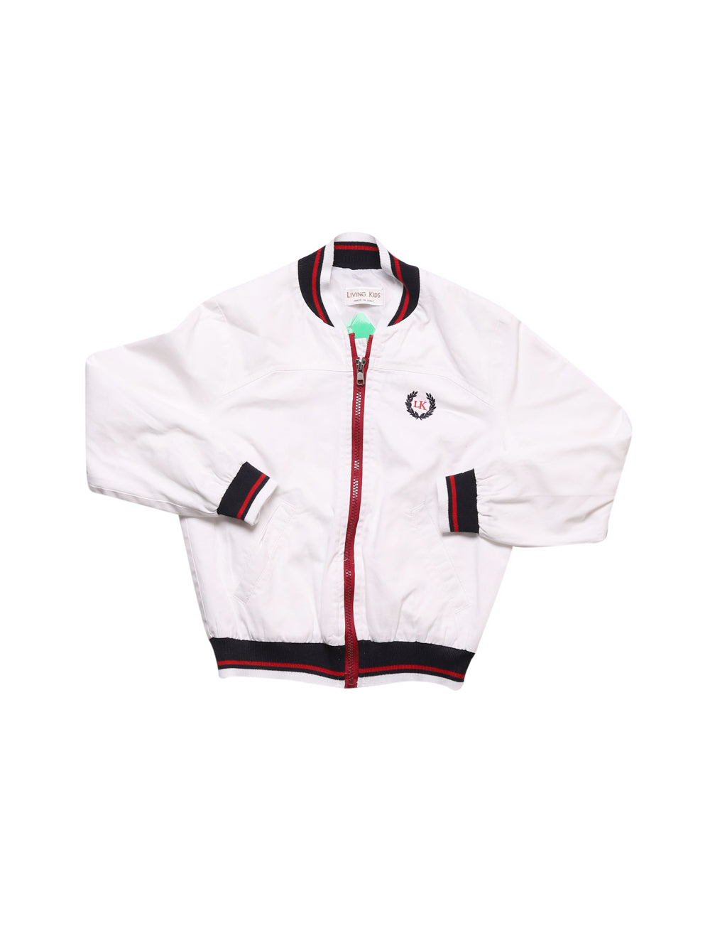 Front photo of Preloved Living Kids White Boy's jacket - size 2-3 yrs