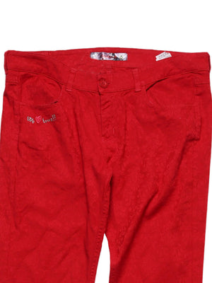 Detail photo of Preloved Desigual Red Woman's trousers - size 4/XXS
