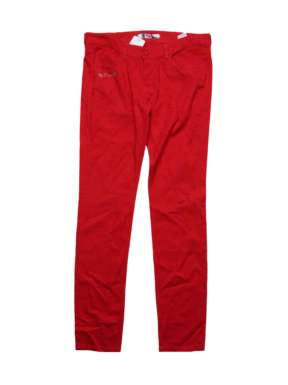 Front photo of Preloved Desigual Red Woman's trousers - size 4/XXS