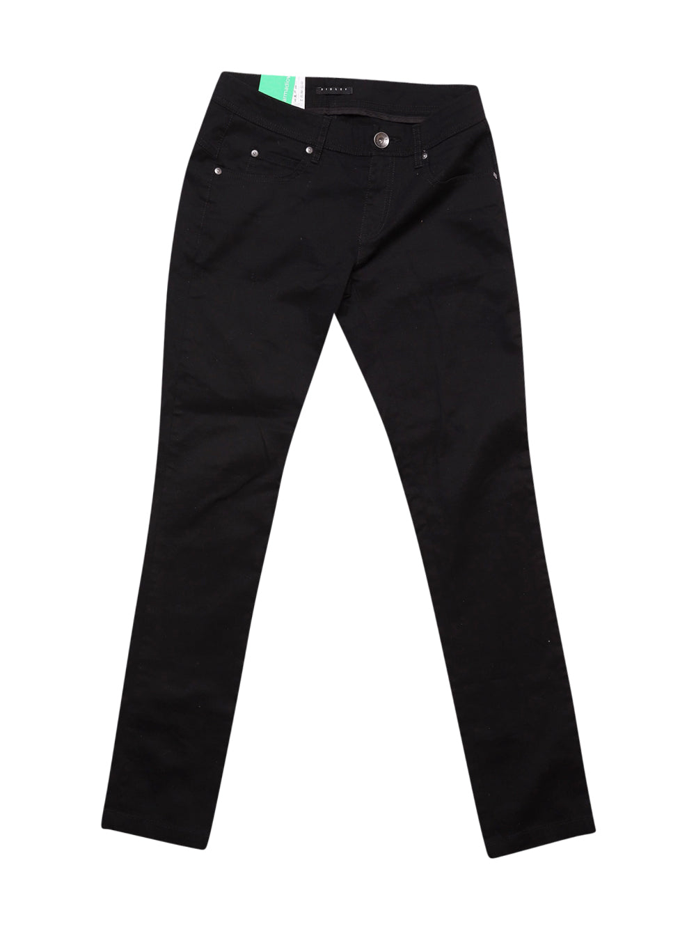 Front photo of Preloved Sisley Black Woman's trousers - size 6/XS