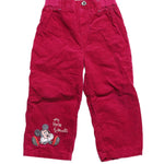 Front photo of Preloved Disney Pink Girl's trousers - size 12-18 mths