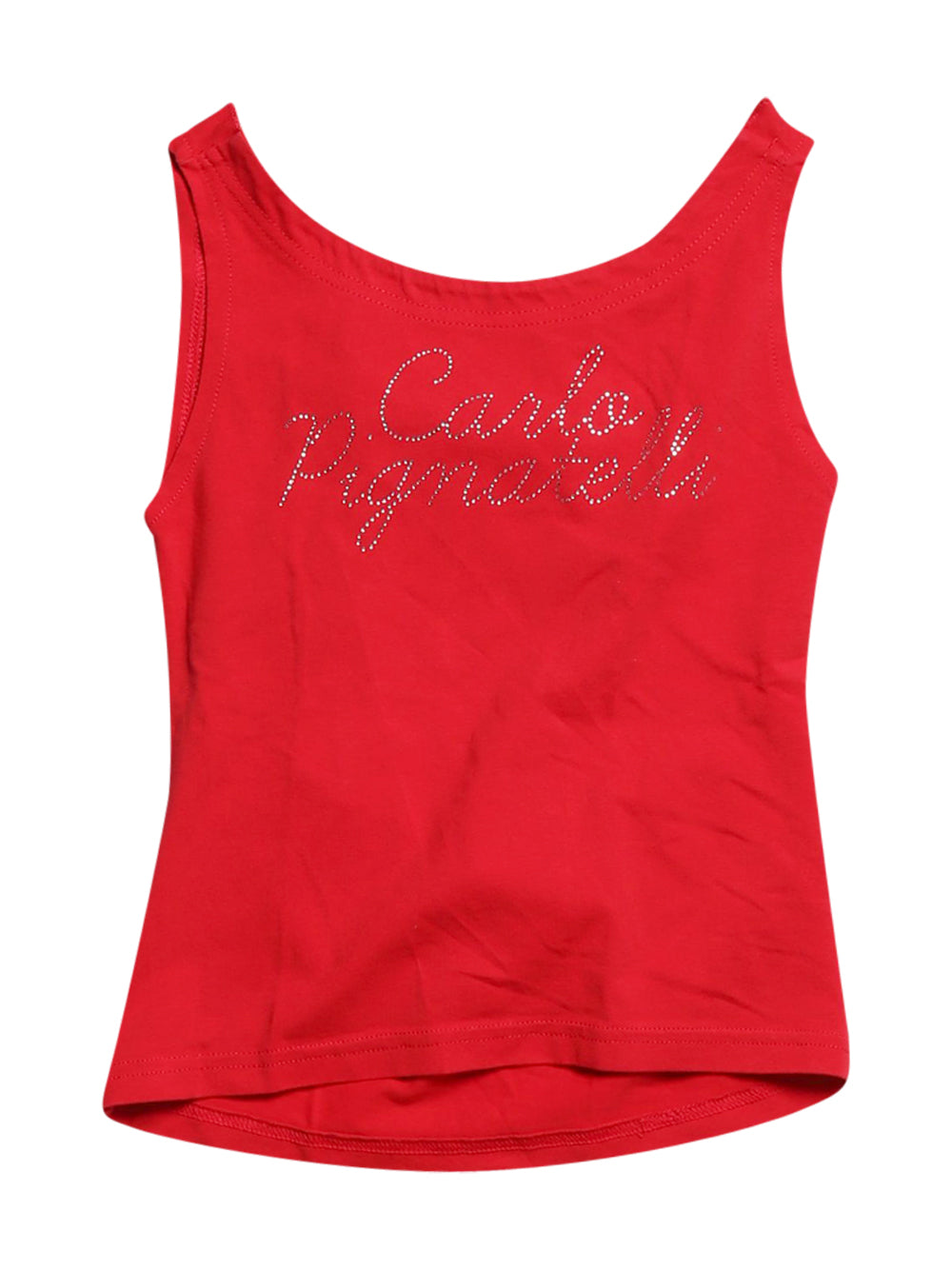 Front photo of Preloved Carlo Pignatelli Red Girl's sleeveless top - size 5-6 yrs