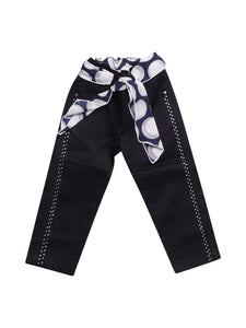 Front photo of Preloved My Collections Blue Girl's trousers - size 12-18 mths