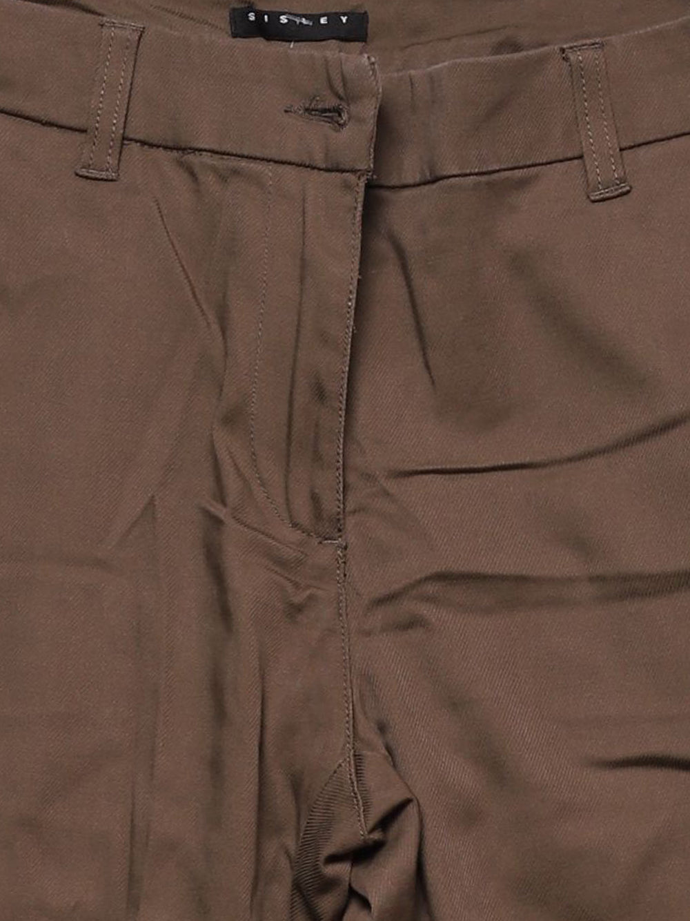 Detail photo of Preloved Sisley Green Woman's trousers - size 8/S