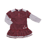 Front photo of Preloved Alphabet Red Girl's dress - size 18-24 mths