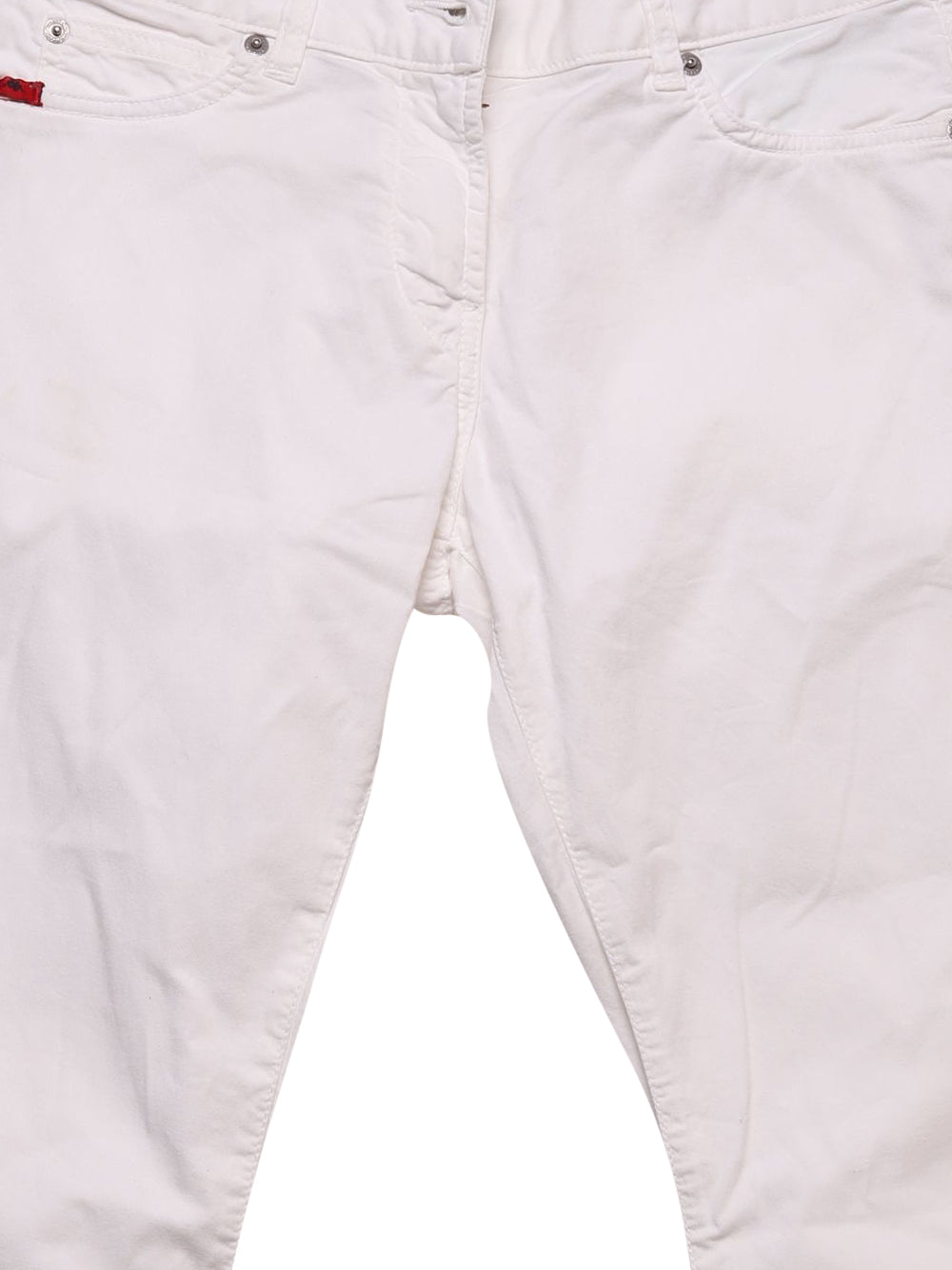 Detail photo of Preloved Kappa White Woman's trousers - size 10/M