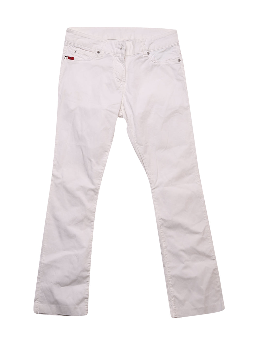 Front photo of Preloved Kappa White Woman's trousers - size 10/M