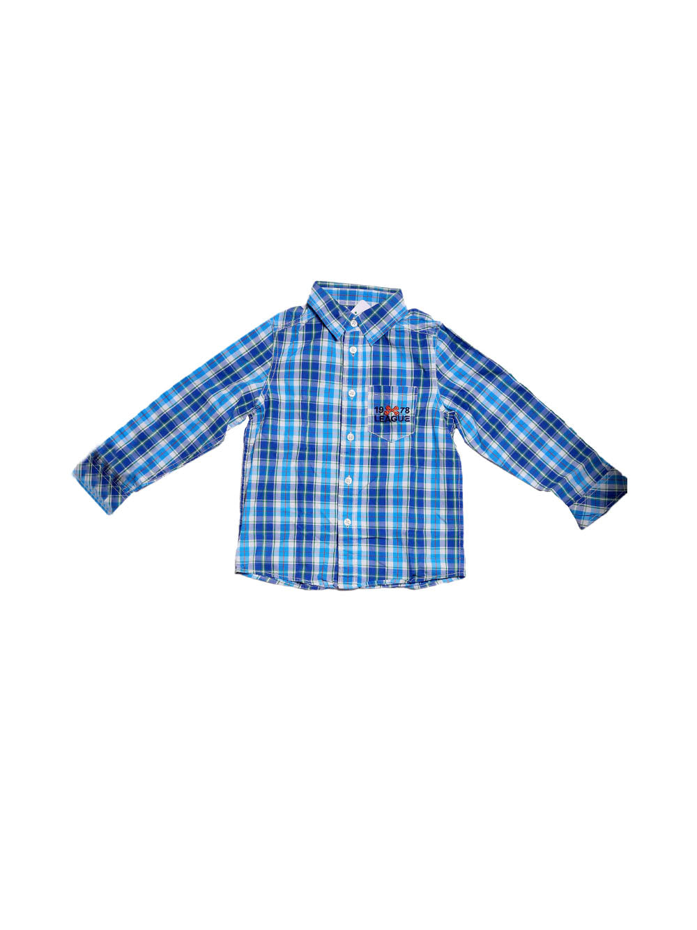 Front photo of Preloved Benetton Blue Boy's shirt - size 4-5 yrs