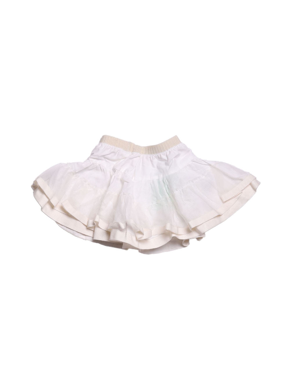 Front photo of Preloved I Pinco Pallino White Girl's skirt - size 18-24 mths