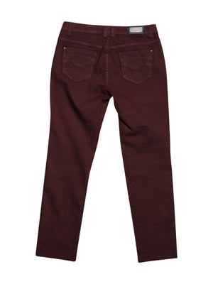 Back photo of Preloved Sepia Bordeaux Woman's trousers - size 4/XXS