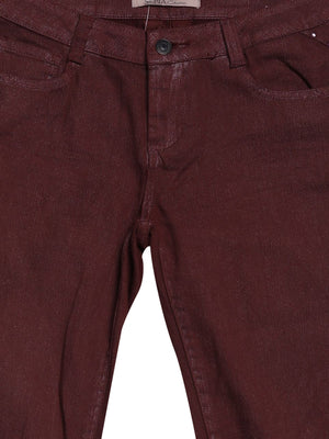 Detail photo of Preloved Sepia Bordeaux Woman's trousers - size 4/XXS