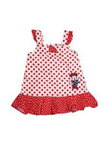 Front photo of Preloved Disney White Girl's dress - size 12-18 mths