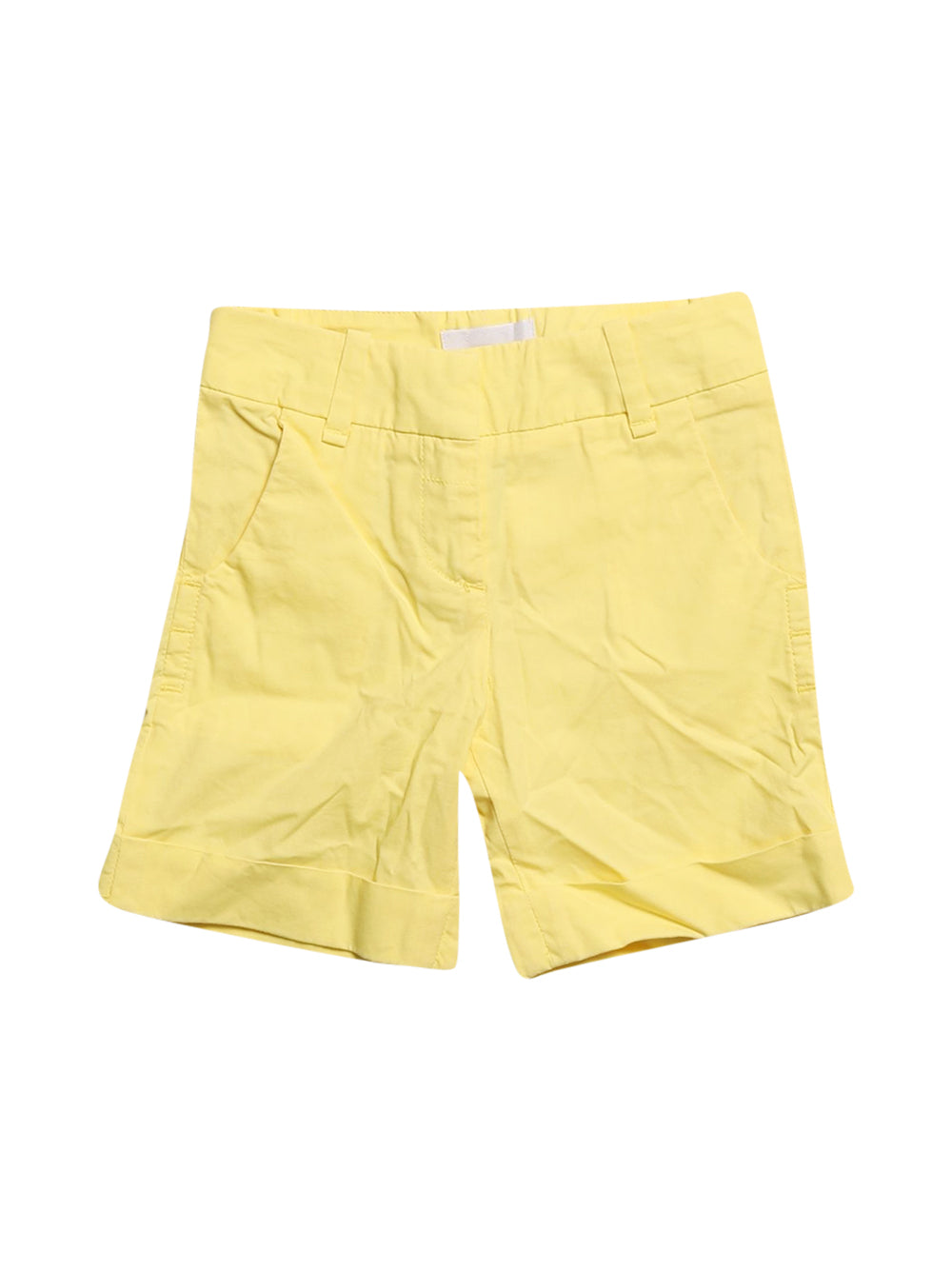 Front photo of Preloved Pinko Yellow Girl's shorts - size 3-4 yrs