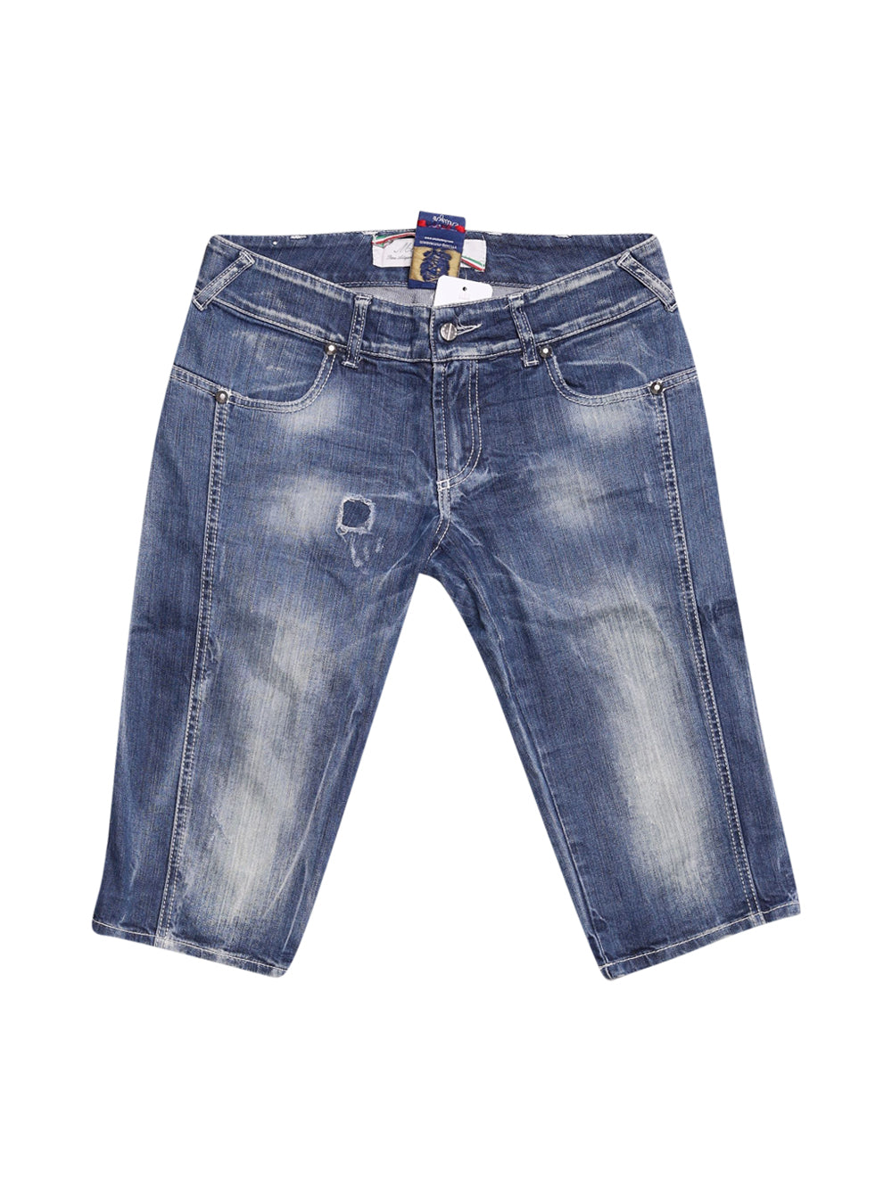 Front photo of Preloved met in jeans Blue Man's shorts - size 32/XXS