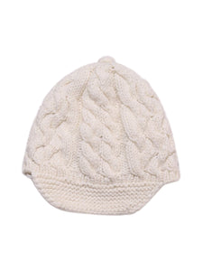 Front photo of Preloved Burton White Woman's hat - size 10/M