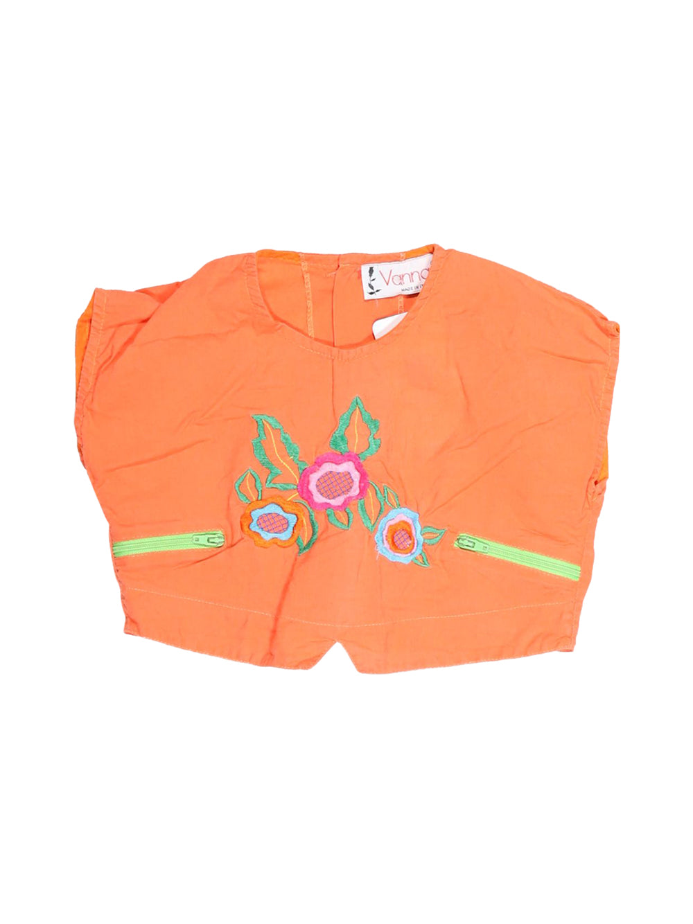 Front photo of Preloved Vanna Orange Girl's sleeveless top - size 18-24 mths