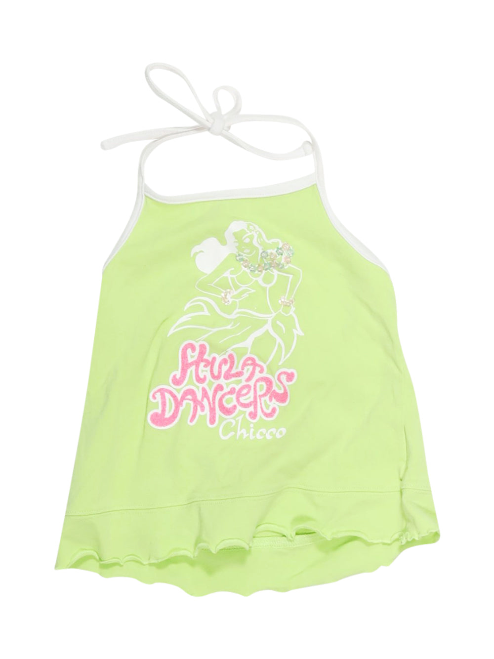 Front photo of Preloved Chicco Green Girl's sleeveless top - size 3-4 yrs