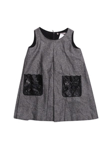 Front photo of Preloved Ermanno Scervino Grey Girl's dress - size 3-4 yrs