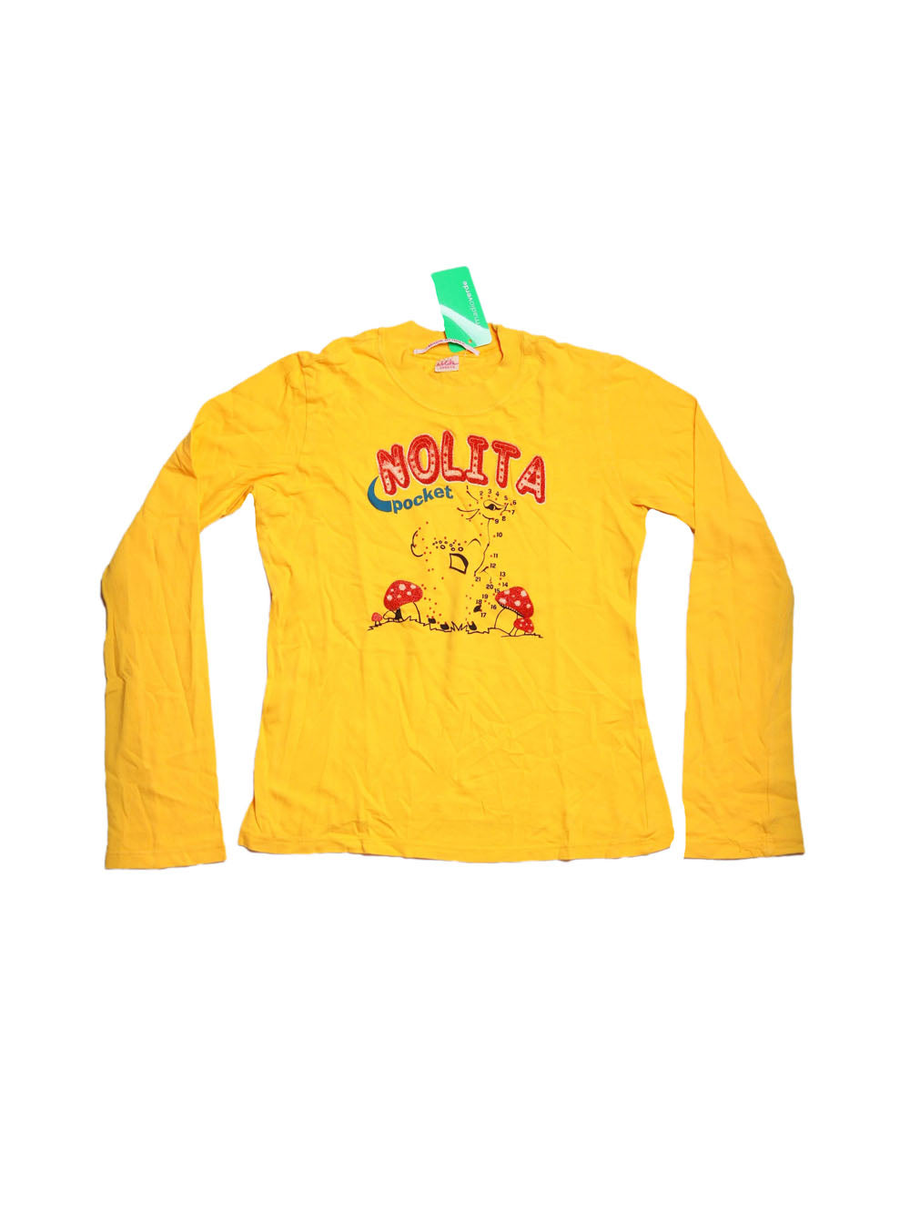 Front photo of Preloved nolita Yellow Girl's long sleeved shirt - size 10-12 yrs