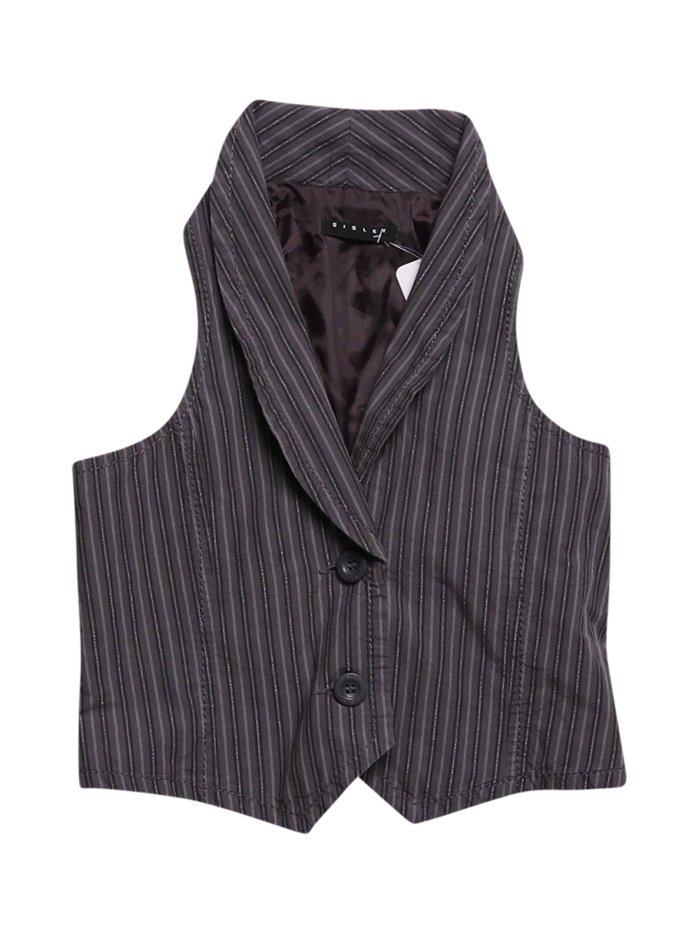 Front photo of Preloved Sisley Grey Woman's waistcoat - size 8/S