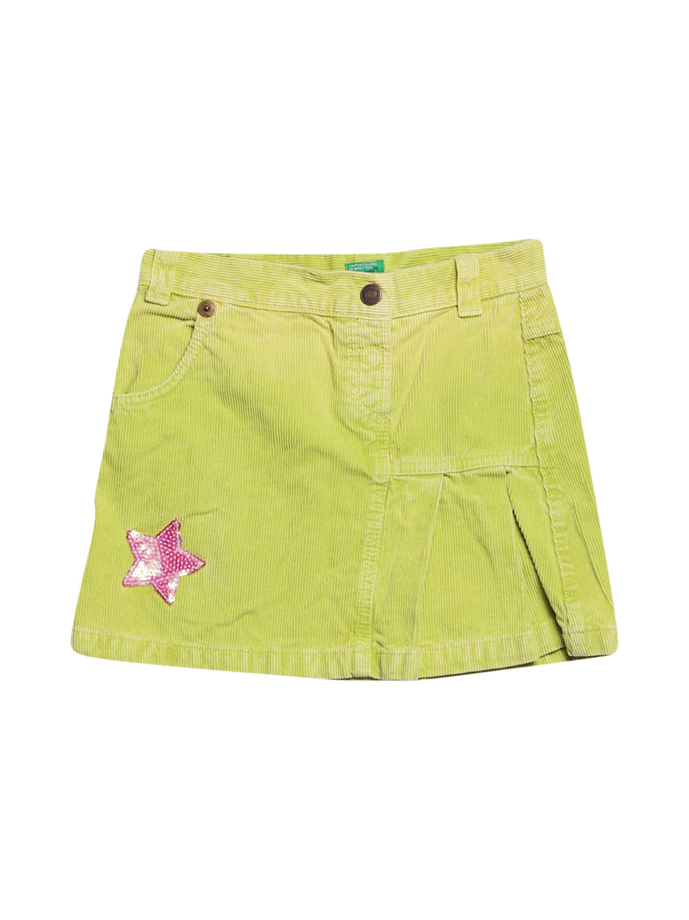 Front photo of Preloved Benetton Green Girl's skirt - size 9-10 yrs