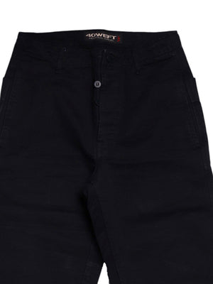 Detail photo of Preloved 40 Weft Black Man's trousers - size 32/XXS
