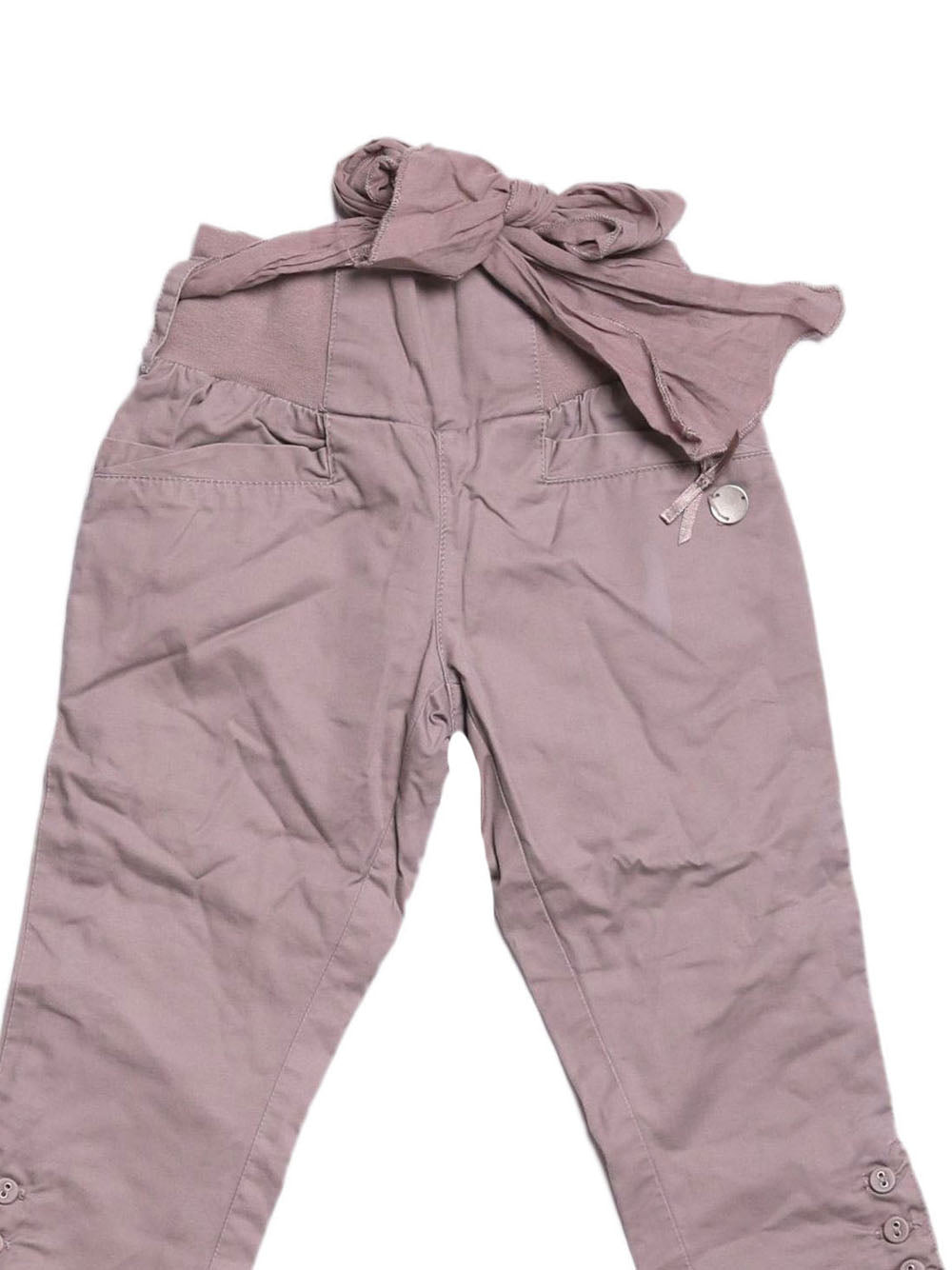 Detail photo of Preloved Chicco Beige Girl's trousers - size 12-18 mths