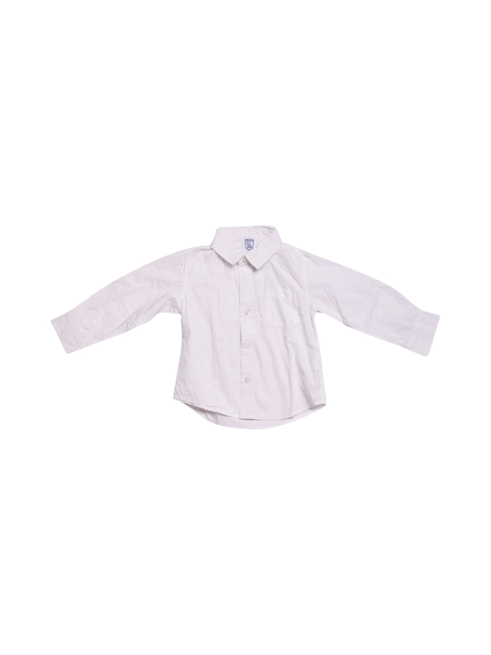 Front photo of Preloved Chicco White Boy's shirt - size 2-3 yrs