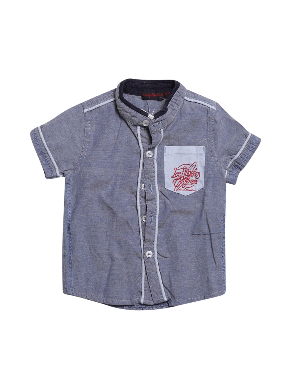 Front photo of Preloved aéropilote Light-blue Boy's shirt - size 12-18 mths