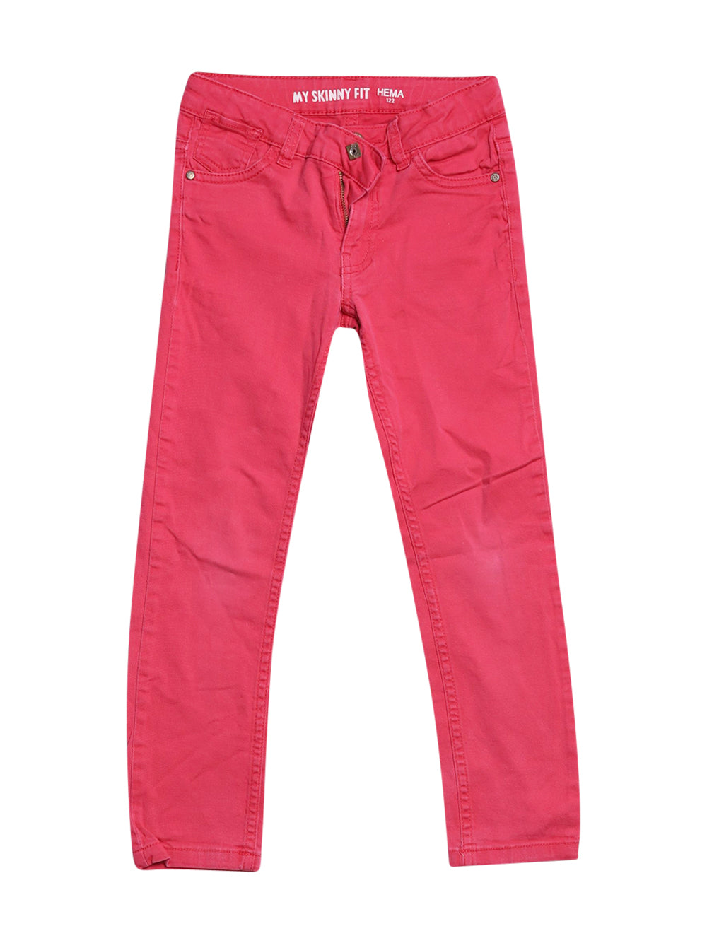 Front photo of Preloved myskin Pink Girl's trousers - size 6-7 yrs