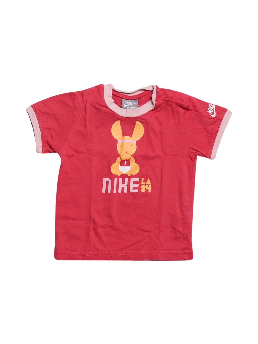 Front photo of Preloved Nike Pink Girl's t-shirt - size 12-18 mths