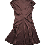 Back photo of Preloved Sisley Brown Woman's dress - size 8/S