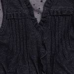 Detail photo of Preloved Chicco Blue Girl's waistcoat - size 18-24 mths