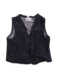 Front photo of Preloved Chicco Blue Girl's waistcoat - size 18-24 mths