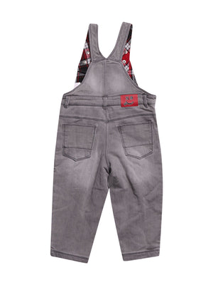 Back photo of Preloved Chicco Grey Boy's overalls - size 12-18 mths