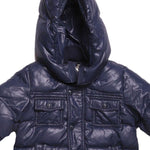 Detail photo of Preloved Les Copains Blue Boy's winter coat - size 9-12 mths