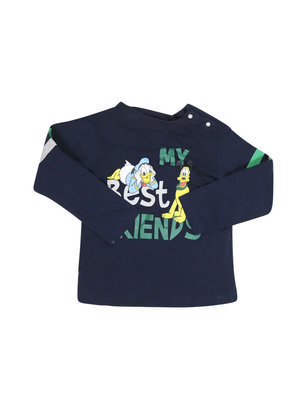 Front photo of Preloved Disney Blue Boy's long sleeved shirt - size 18-24 mths