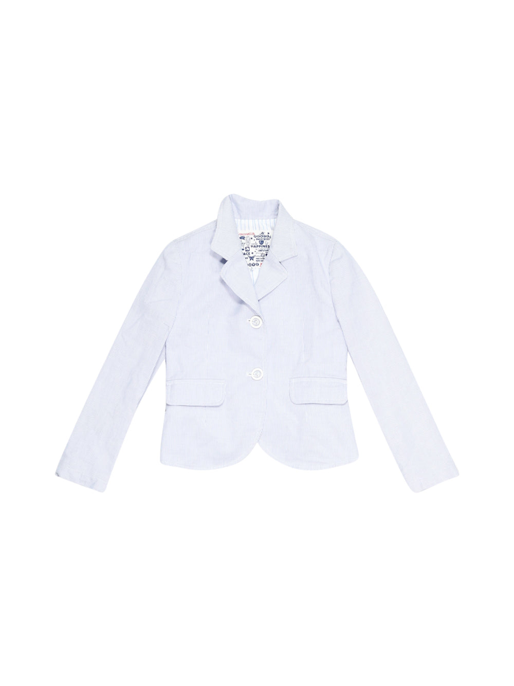 Front photo of Preloved Simonetta White Girl's blazer - size 5-6 yrs