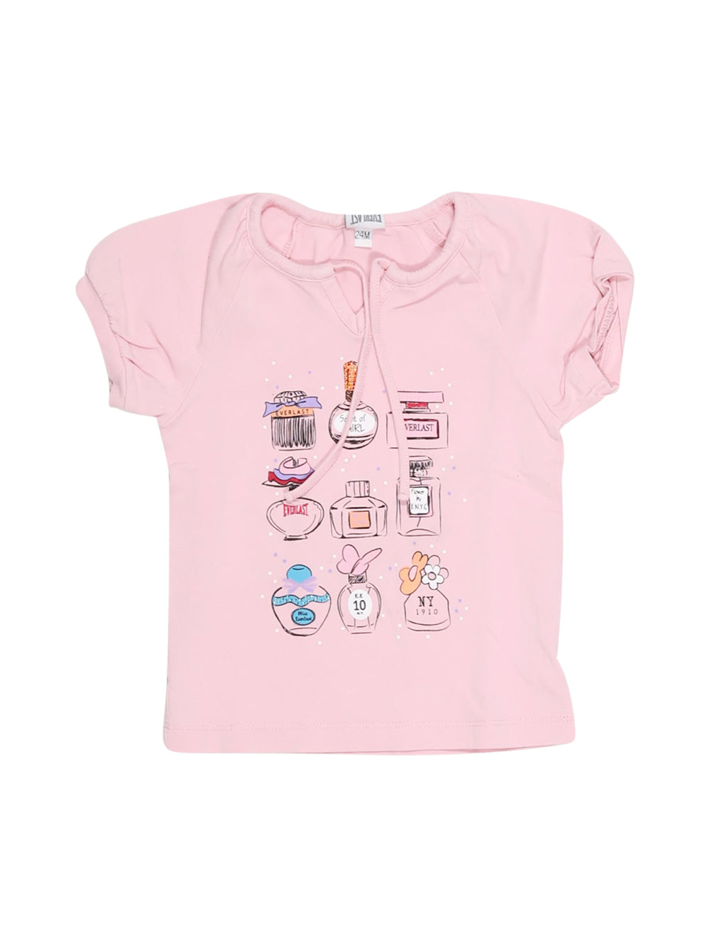 Front photo of Preloved Everlast Pink Girl's t-shirt - size 18-24 mths