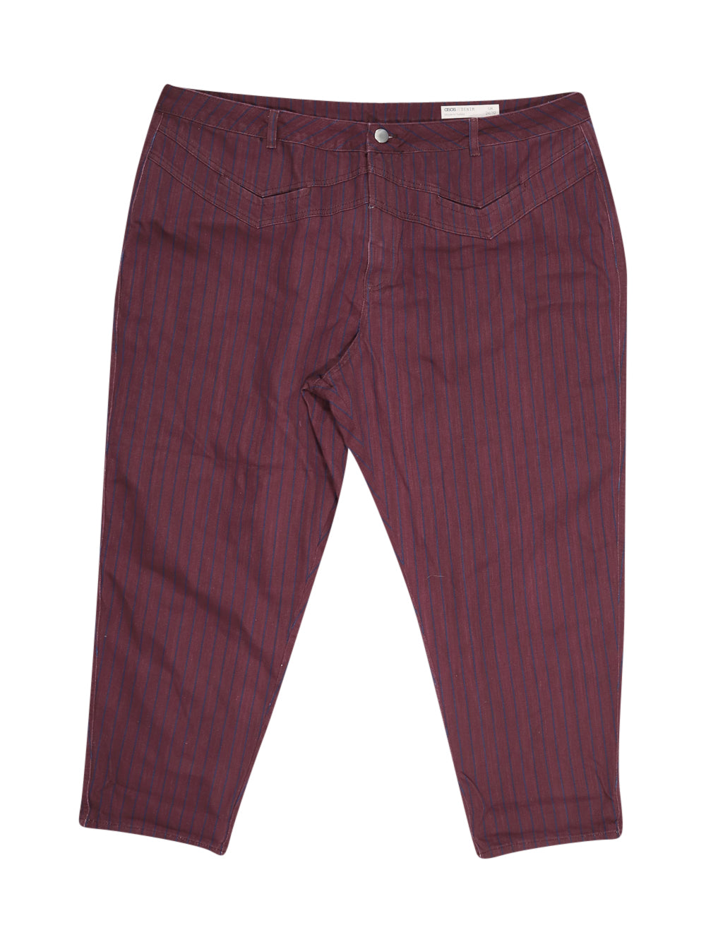 Front photo of Preloved Asos Bordeaux Woman's trousers - size 20/XXXXL