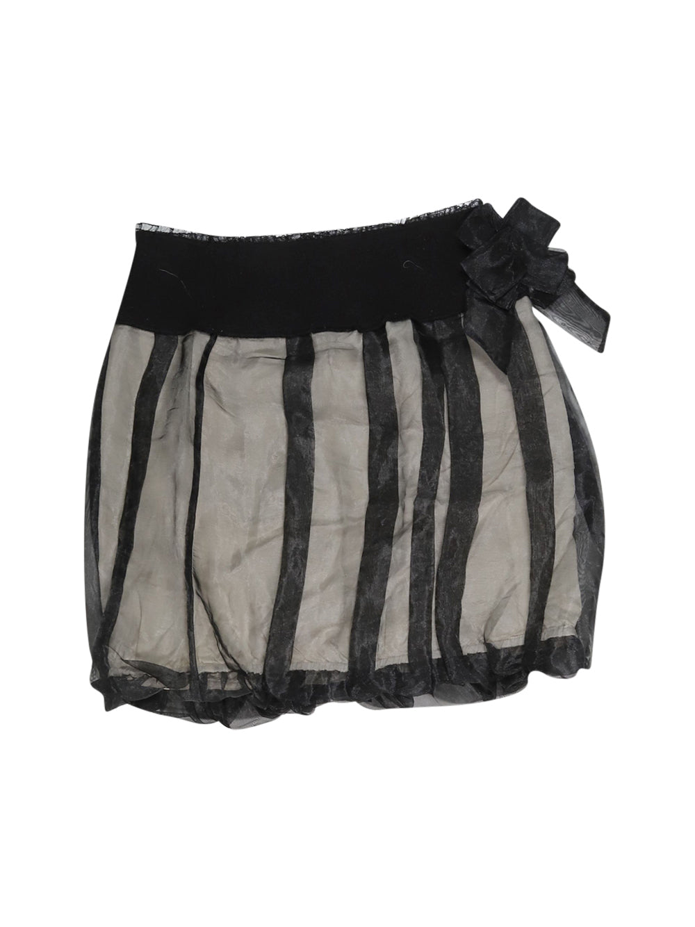 Front photo of Preloved Sisley Black Girl's skirt - size 14-16 yrs