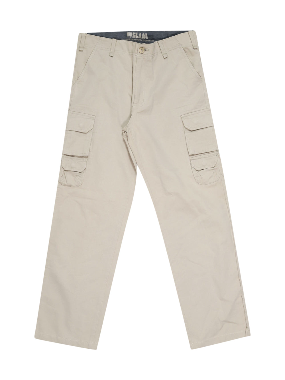 Front photo of Preloved Slam Beige Man's trousers - size 34/XS