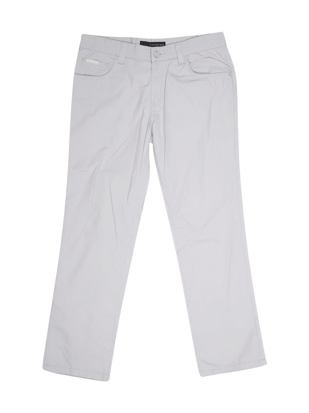 Front photo of Preloved Calvin Klein Grey Man's trousers - size 34/XS