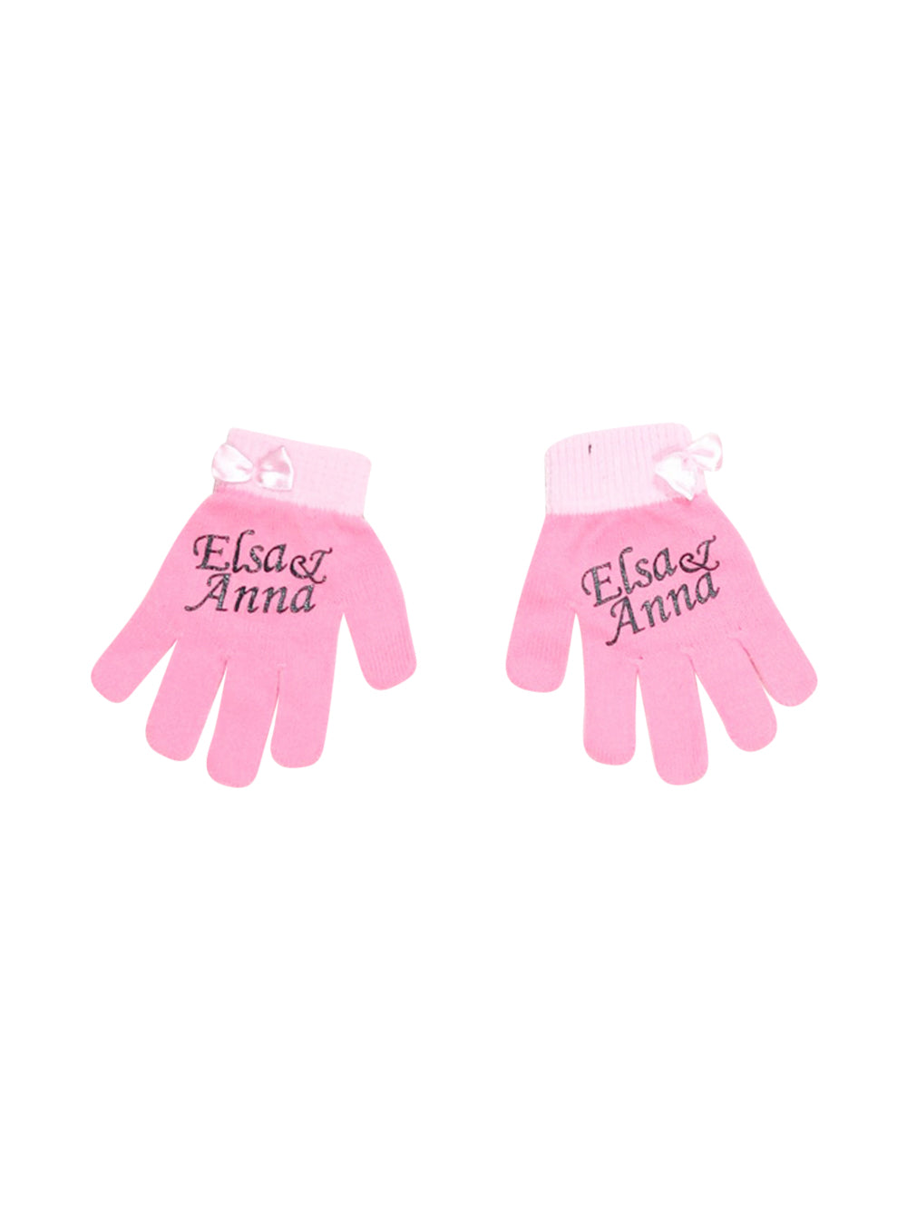Front photo of Preloved Disney Pink Girl's gloves - size 18-24 mths