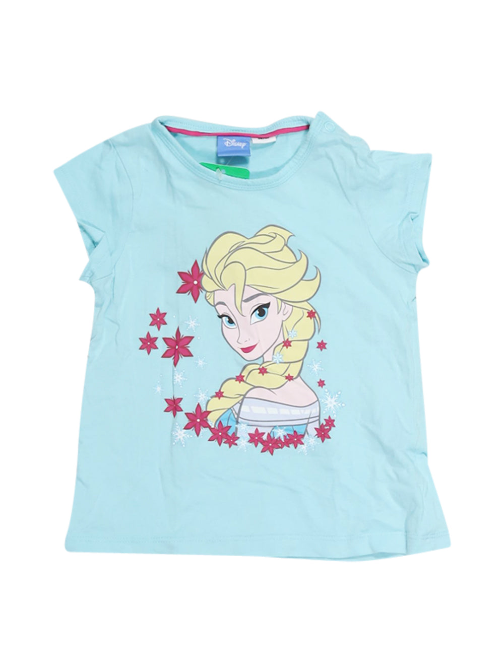 Front photo of Preloved Disney Light-blue Girl's t-shirt - size 18-24 mths