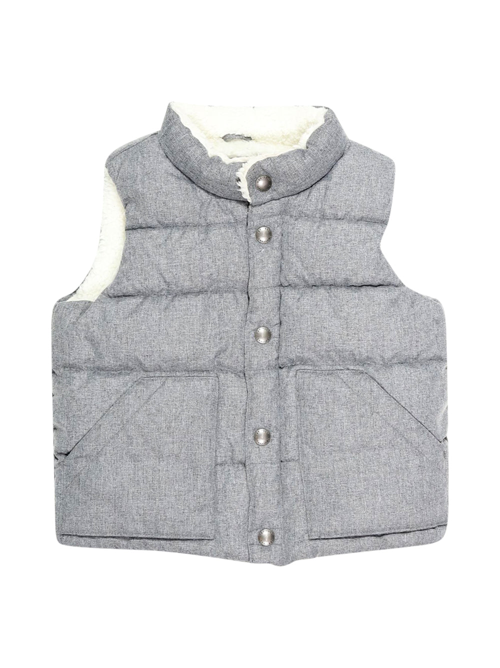 Front photo of Preloved Gap Grey Boy's sleeveless jacket - size 18-24 mths