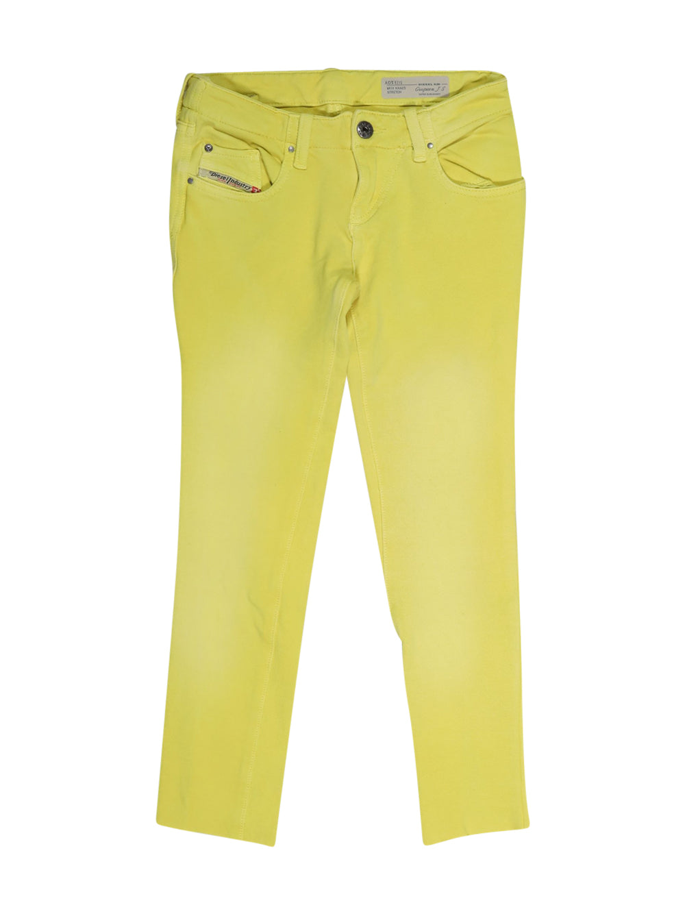 Front photo of Preloved Diesel Yellow Girl's trousers - size 9-10 yrs